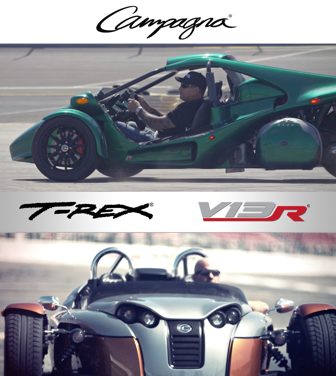 Win A Day Behind The Wheel Of A Campagna Vehicle (T-REX Or V13R)